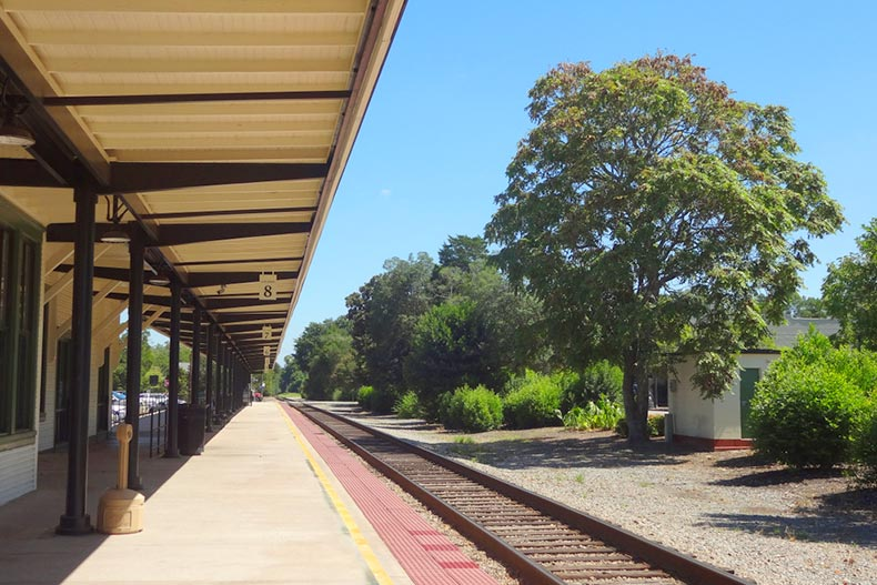 Train Station in downtown Southern Pines, North Carolina