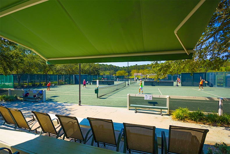People play tennis at Sun City Hilton Head