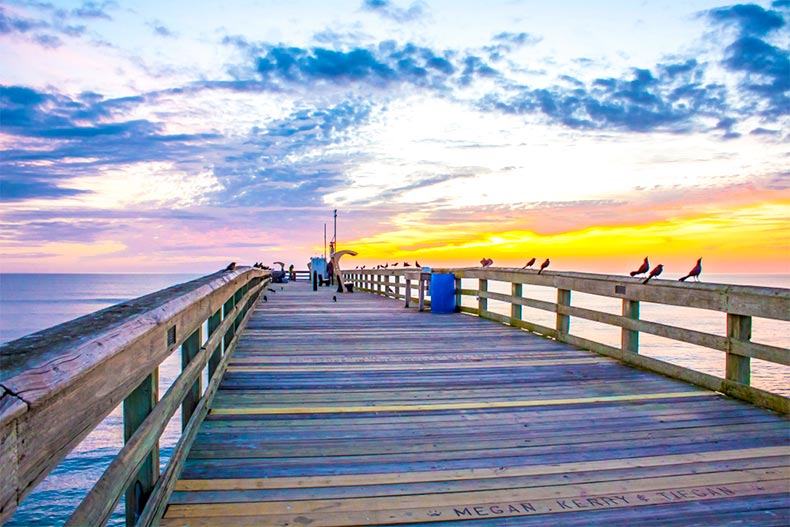 Pier and sunset in St. Augustine, Florida