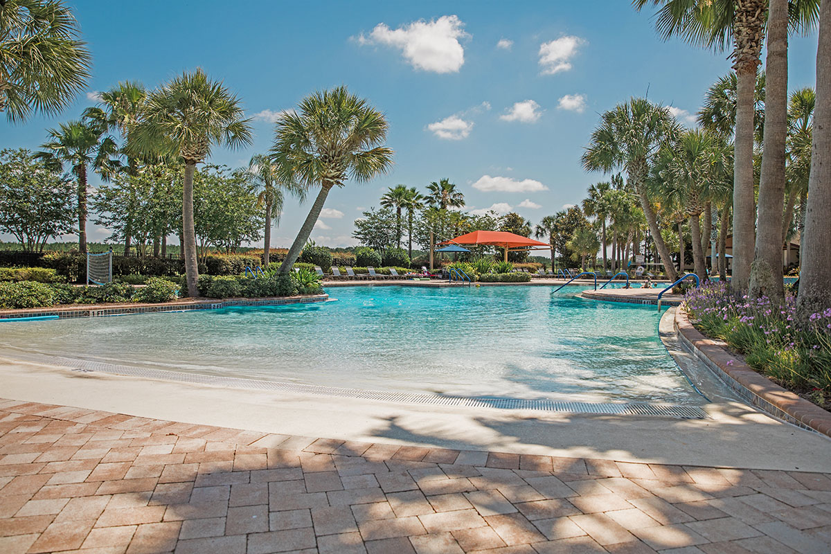 Easy entry resort style pool at Stone Creek - Ocala, FL