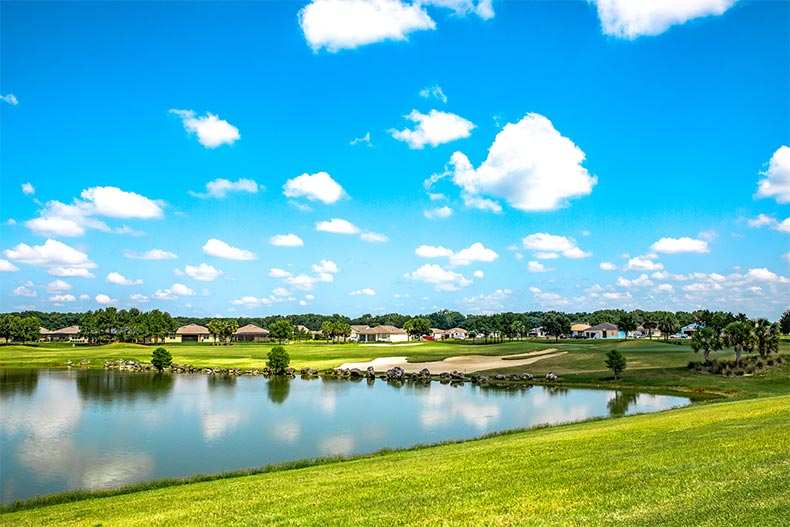 Water and greenspace in Stone Creek, Ocala, FL