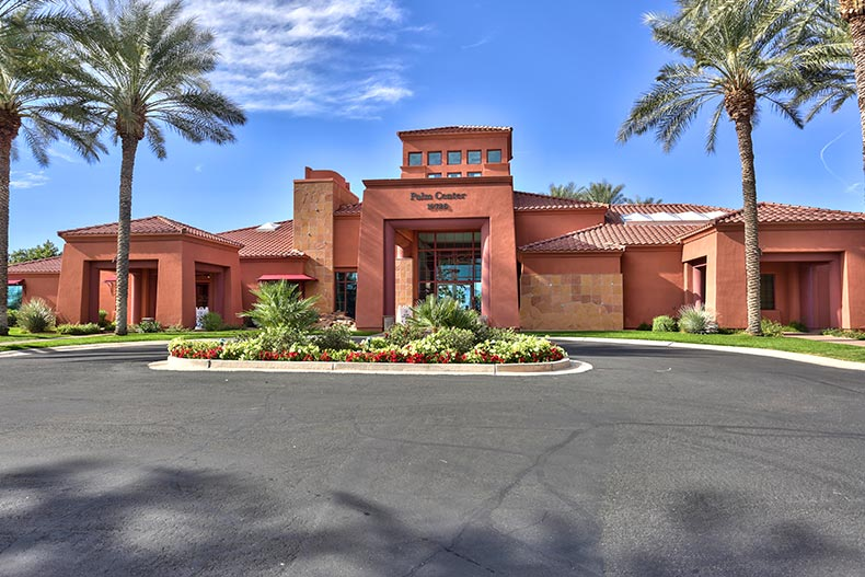 Exterior view of the Palm Center at Sun City Grand in Surprise, Arizona