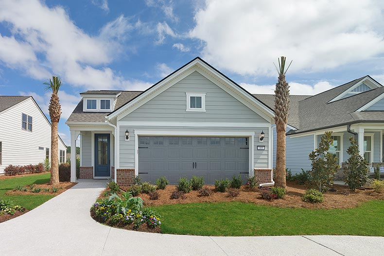 Exterior view of the Hallmark home model in the Scenic series at Sun City Hilton Head in Bluffton, South Carolina