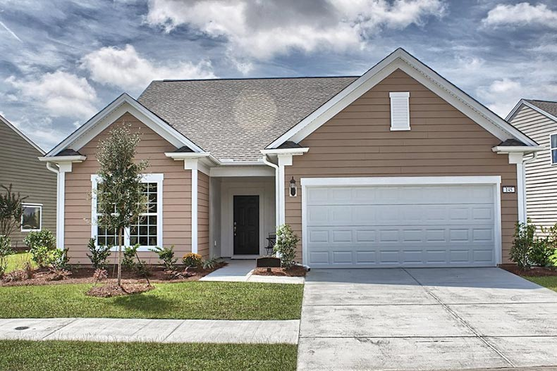 Exterior view of a model home at Sun City Hilton Head in Bluffton, South Carolina
