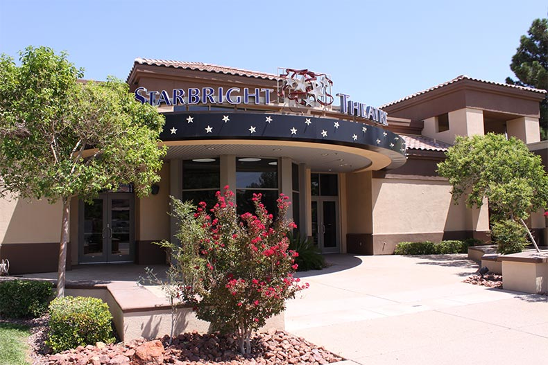 Exterior view of the Starbright Theater at Sun City Summerlin in Las Vegas, Nevada