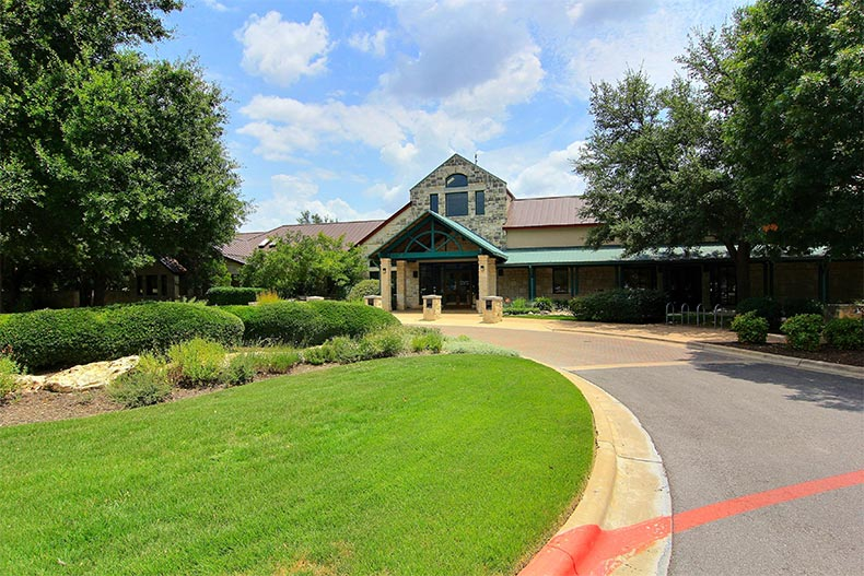 A community clubhouse at Sun City Texas in Georgetown, Texas