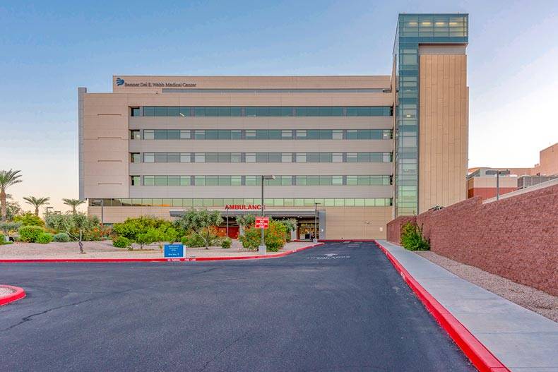 Exterior view of the Banner Del E. Webb Medical Center at Sun City West in Sun City West, Arizona