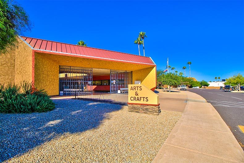 Arts and Crafts building in Sun City, Arizona