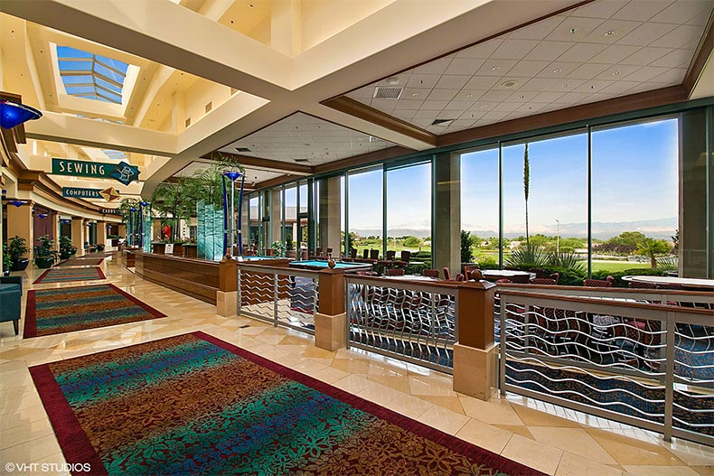 Interior of Sun City Anthem clubhouse in Henderson, Nevada