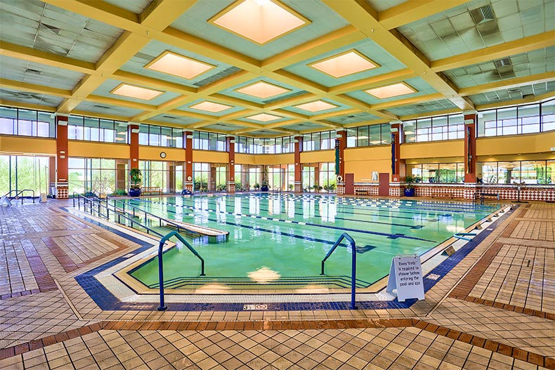 Indoor lap pool in Sun City Grand