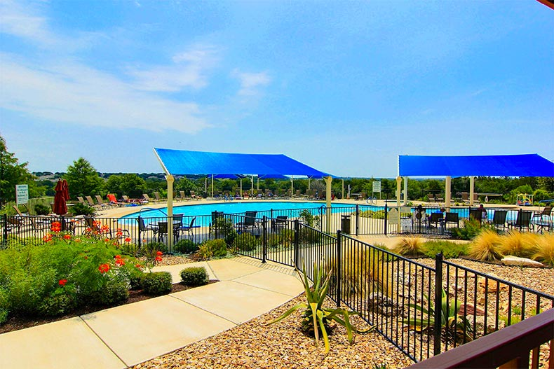 Outdoor pool in Sun City Texas, Georgetown, TX
