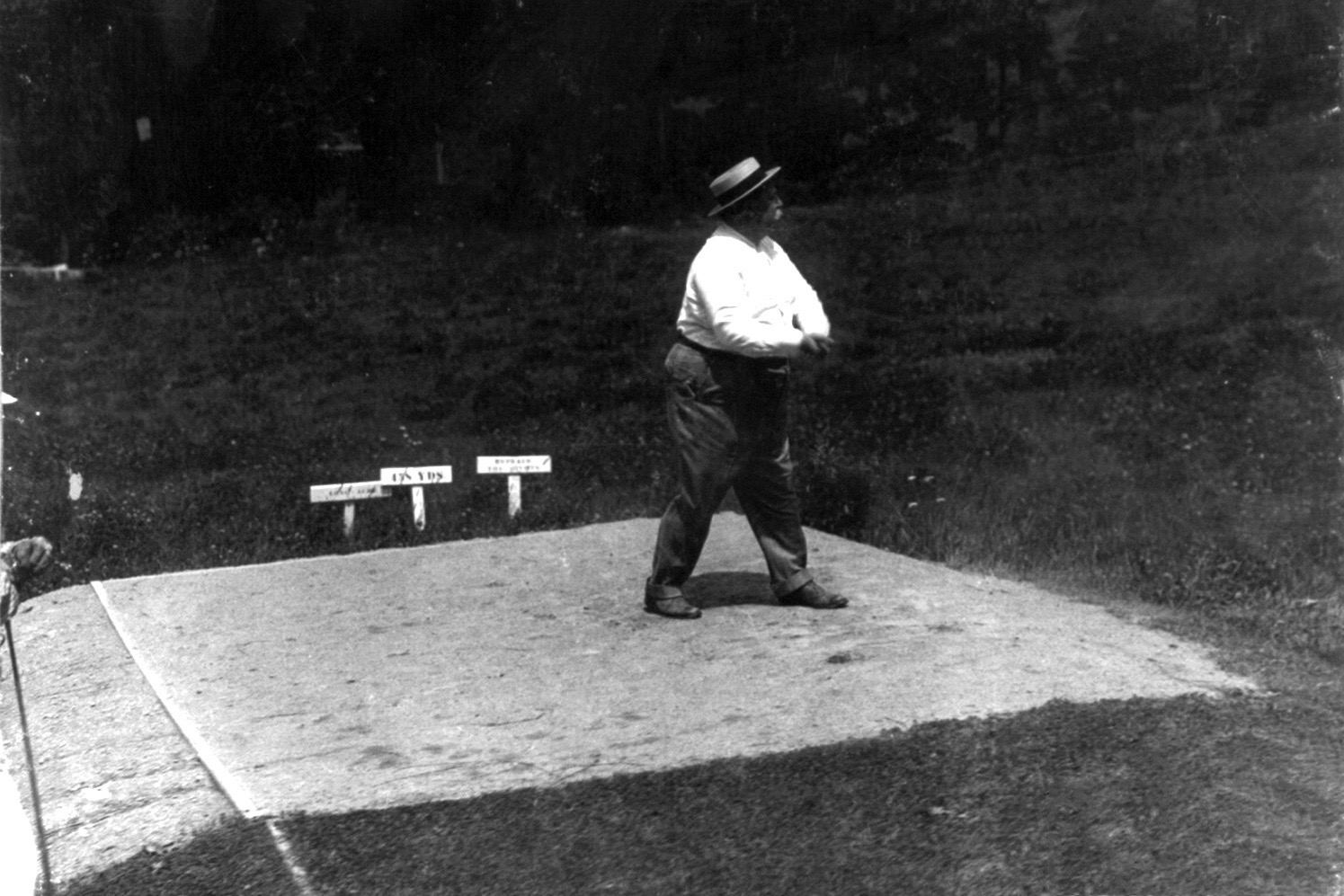 Pictured is William Howard Taft playing a round of golf.