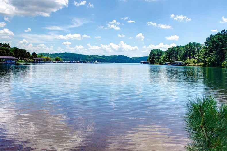 View from the shores of Lake Tellico near the Smokey Mountains