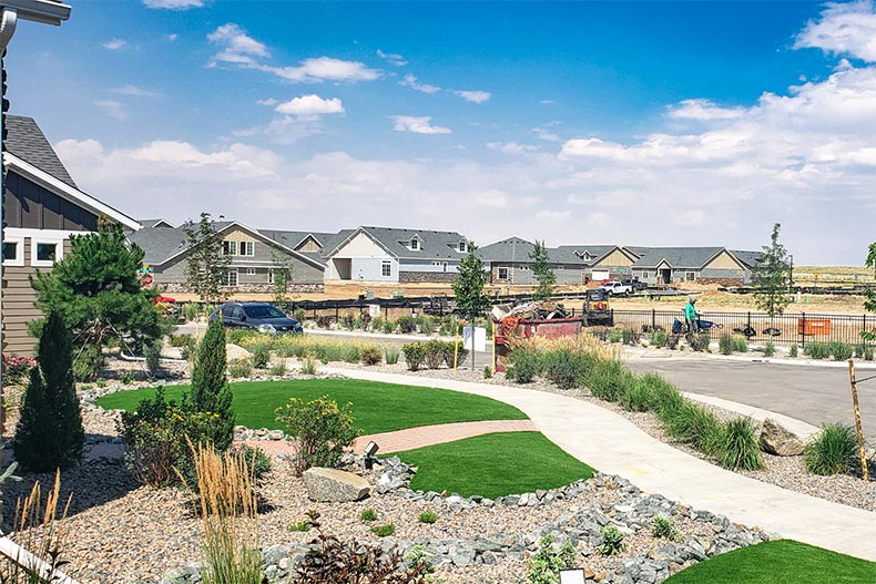 New construction homes at The Reserve at Green Valley Ranch in Aurora, Colorado