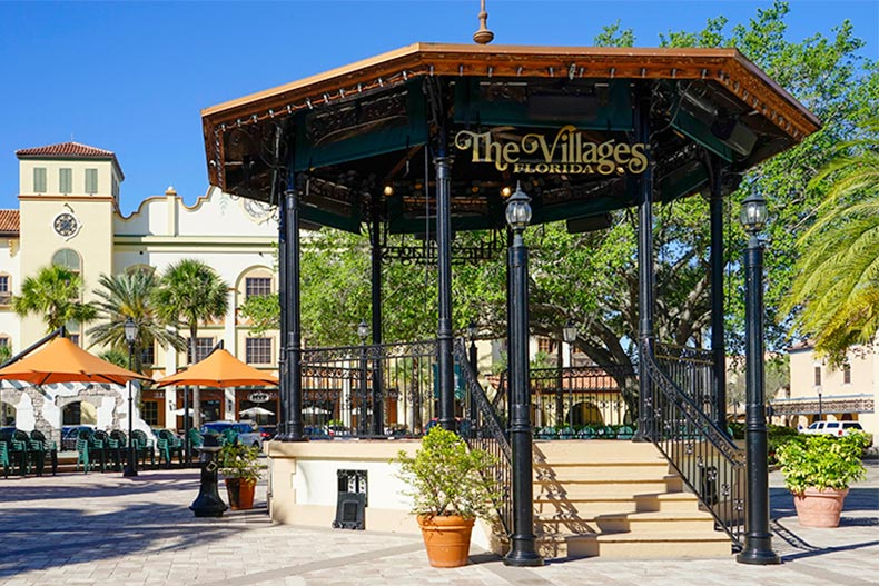 View of the outdoor pavilion at The Villages in Florida