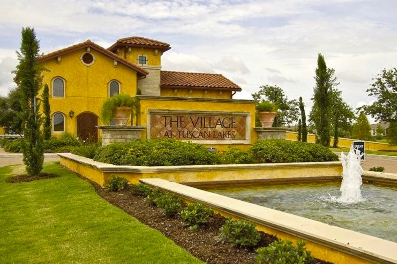 Check out the beautiful homes and clubhouse at The Village at Tuscan Lakes.