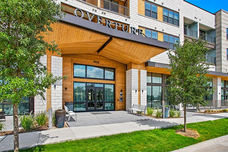 Exterior view of Overture Mueller in Austin, Texas