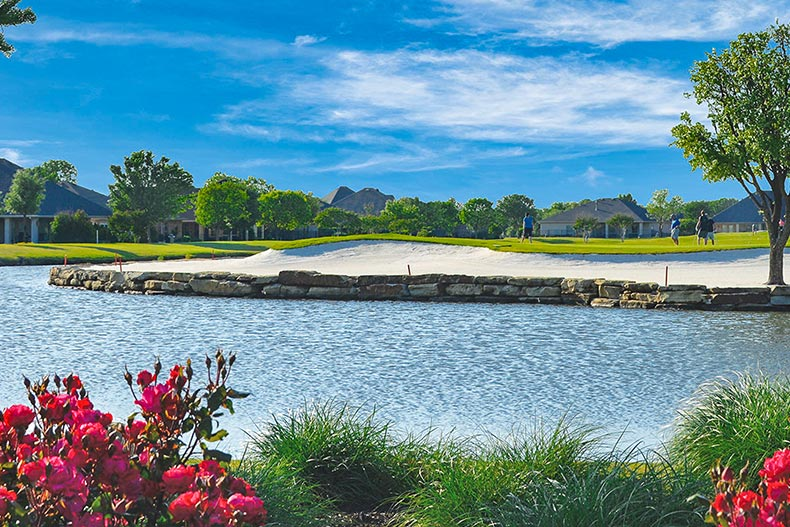 Picturesque view of the 18-hole Wildhorse Golf Club at Robson Ranch - Texas in Denton, Texas