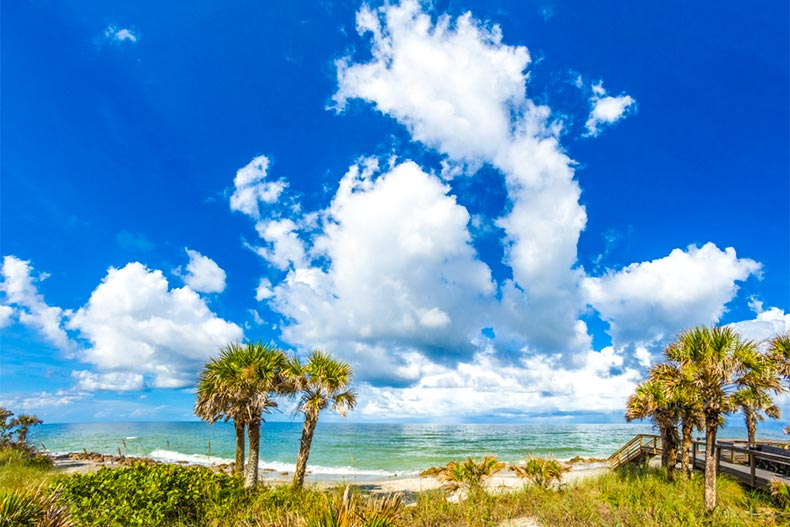 Stunning skies over a beach in Venice, Florida