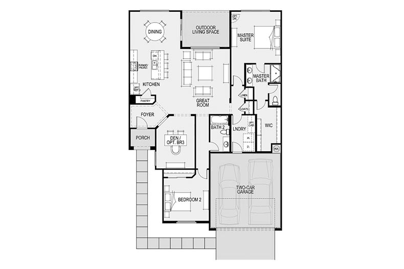 Floor plan layout for the Verde model at Robson Ranch - Arizona in Eloy, Arizona