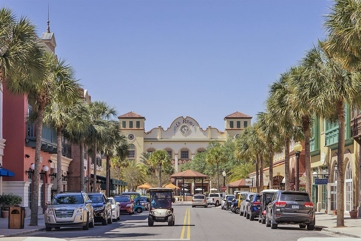 Town center in the The Villages, Florida