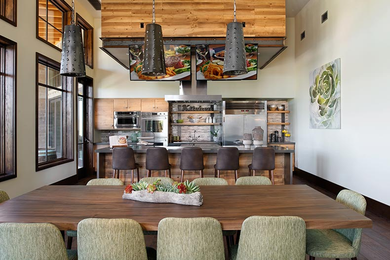 Interior view of the demonstration kitchen at Trilogy® at Wickenburg Ranch in Wickenburg, Arizona