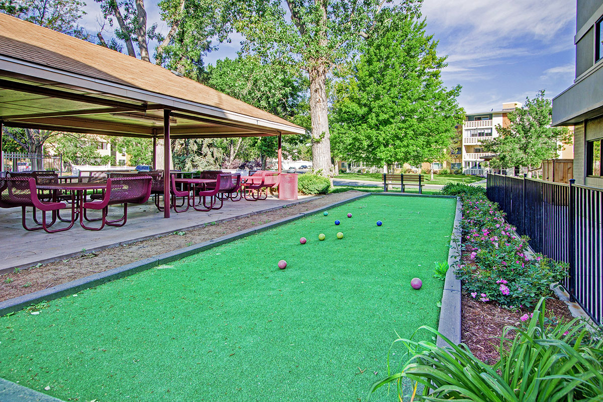 Bocce ball court at Windsor Gardens - Denver, CO