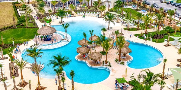 Latitude Margaritaville Resort Pool with Patio and Cabanas