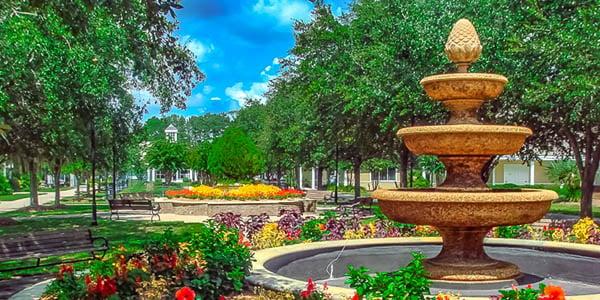 Sun City Hilton Head Entrance and Fountain