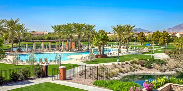 Province Resort Pool with Path and Landscaping